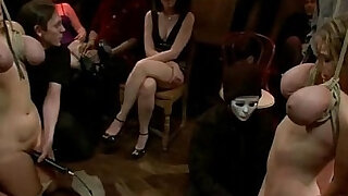 Huge natural tits, submissive housewife, dominated, bound
