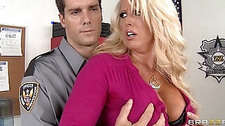 Big tit blonde amateur milf alura jensen is frisked and fucked by a cop