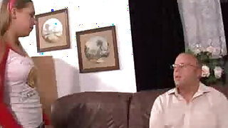 Curious daughter fucked by daddy