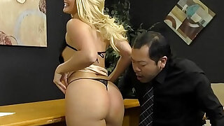 Loan Officer Makes Him Lick Ass To Get a Loan AJ Applegate