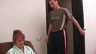 Russian Big Family Grandma Son