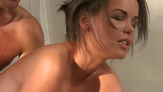 Natural tits painful anal