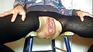 Old Granny Gets her pussy Fucked In Gaping Cunt