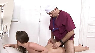 Old Hairy Russian Doc Fucks Teen Cunt