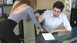 Bubby bimbo captures a pussy licking sissy