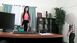 Asian Teen girl Fucked by Midget Fake Agent