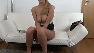 Real senorita sucks cock during audition