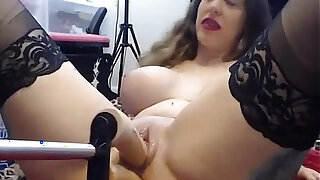Stockings girl gets railed by fucking machine and deepthroats toy. Long big cock inside her video webcamsluts.site