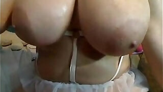 Thick And Busty brunette Woman Playing