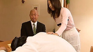 Asian slut cheating on her man in his home